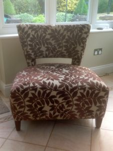 Re-upholstered Modern Chair