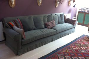 Sofa with loose covers