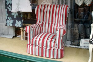 Traditional Upholstery - Winged armchair